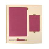 Набор подарочный PROVENCE: универсальное зарядное устройство, блокнот, ручка, розовый фото