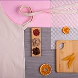 Набор подарочный She&Mama: передник, тарелка для закусок, доска разделочная, бежевый фото