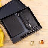 Набор подарочный YourSiute: бумажник водителя, футляр для ключей, ручка, черный фото