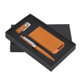 Набор ручка + флеш-карта 8Гб + зарядное устройство 4000 mAh в футляре, покрытие soft touch фото