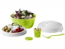 Набор салатниц Ceasar, белый/ зеленый фото