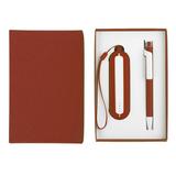 Набор SEASHELL-1: универсальное зарядное устройство, ручка, красный  фото