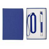 Набор SEASHELL-1: универсальное зарядное устройство, ручка, синий  фото