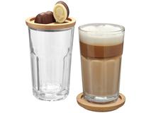 Набор стаканов Linden, прозрачный, коричневый фото