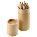 Набор цветных карандашей (12шт) Игра цвета в футляре, коричневый фото