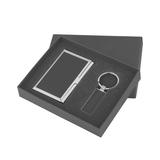 Набор визитница с брелоком в коробке, черный фото