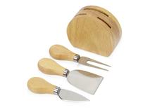 Набор из ножей для сыра на подставке Take it cheesy, деревянный фото