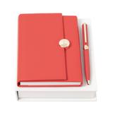 Набор (записная книжка А6, ручка шариковая), красный фото