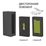 Набор зарядное устройство Theta 4000 mAh + флеш-карта Vostok 8Гб в футляре, покрытие soft touch, зеленый фото