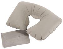 Надувная подушка под шею в чехле Sleep, серая фото