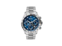 Наручные часы Hero, мужские, серебристые, с синим циферблатом фото