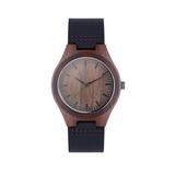 Наручные часы на кожаном ремешк, коричневый фото