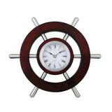 Настенные часы Штурвал, коричневый фото