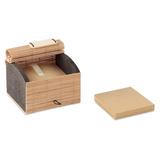 Настольный блок бумаги из бамбу, бежевый фото