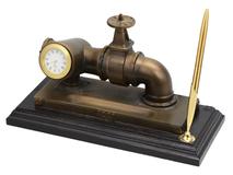Настольный прибор Газовый вентиль, коричневый/золотой фото