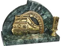 Настольный прибор Поезд, золотой фото