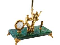 Настольный прибор Скважина, золотой фото