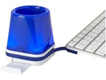 USB хаб настольный 4 в 1 Shine, синий фото