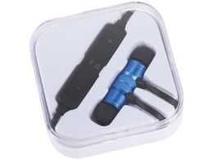 Наушники внутриканальные магнитные Bluetooth Avenue Martell, синие фото