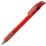 Ручка шариковая с грипом NOVE LX, прозрачный красный/серебряный фото