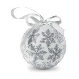 Новогодние шары FLAKIES, серебро фото