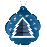 Новогодний самонадувающийся шарик Елочка, синий фото