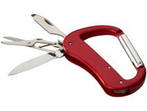 Нож Canyon с карабином, красный фото