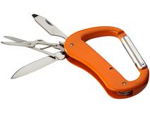 Нож Canyon с карабином, оранжевый фото