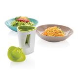 Нож для овощей, белый, зеленый фото