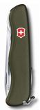 Нож Victorinox Outrider, зелёный, 111 мм, 14 функций, в картонной коробке фото