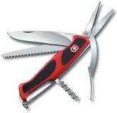 Нож Victorinox RangerGrip, чёрно-красный, 130 мм, 7 функций фото
