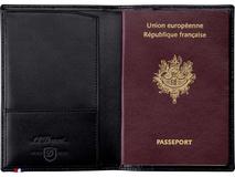 Обложка для паспорта S.T. Dupont, черный фото