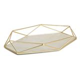 Органайзер-поднос для украшений prisma матовая латунь фото
