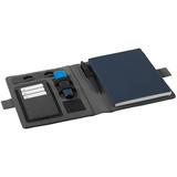 Органайзер с блокнотом и беспроводным аккумулятором, синий фото