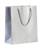 Пакет бумажный Блеск, малый, серебристый фото