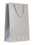 Пакет бумажный Блеск, средний, серебристый фото