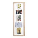 Панно с зажимами для 7 фото clothesline натуральное дерево фото