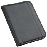 Папка Count On формата А4 с блокнотом и калькулятором, черная с красным фото