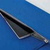 Папка PATRIX с блокнотом и карманом на молнии, А4, черная фото