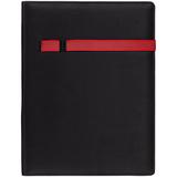 Папка Torga с блокнотом на 20 стр., черная с красным фото