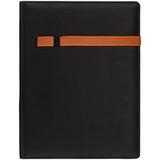 Папка Torga с блокнотом на 20 стр., черная с оранжевым фото