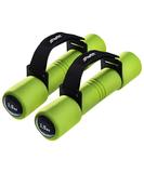Пара гантелей Biceps 1,5 кг зеленого цвета фото