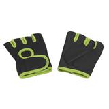 Перчатки для фитнеса Рекорд, размер M, черный, салатовый фото