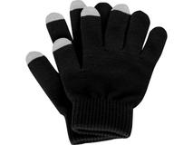 Перчатки для сенсорного экрана Сет, размер S/M, черный/серый фото