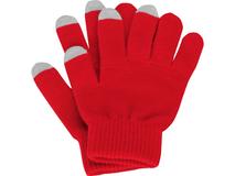 Перчатки для сенсорного экрана Сет, размер S/M, красный/серый фото