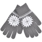 Перчатки для сенсорных экранов СНЕЖИНКА, серый фото