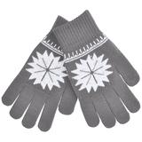"""Перчатки для сенсорных экранов """"СНЕЖИНКА"""",  серый фото"""
