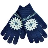 Перчатки для сенсорных экранов Снежинка, размер М, темно-синий фото
