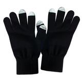 Перчатки для сенсорных экранов мужские, черный/серый фото
