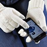 Перчатки сенсорные Irish, 100% акрил, белый фото